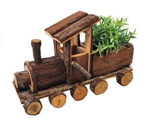 Holz Eisenbahn zum bepflanzen - ca. 40 x 17 x 26 cm