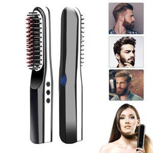 Bartglätter verbesserter USB-Akku mit kabellosem kabellosem Bart mit LCD-Display geeignet für Haare