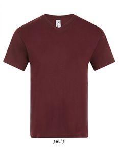 V-Neck Herren Kurzarm T-Shirt Victory - Farbe: Oxblood - Größe: XXL
