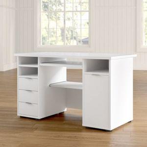 Jahnke Büroschreibtisch CSL 220, Weiß