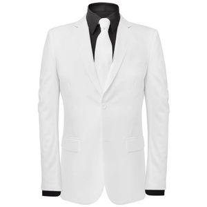SIRUITON 2-tlg. Herrenanzug mit Krawatte Weiß Gr. 48