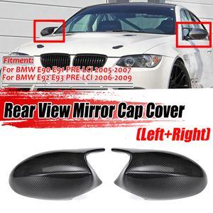 MECO Spiegelkappen Schwarz M Optik für BMW 3er E90 E91 E92 E93 1er E87 E88 Pre-LCI