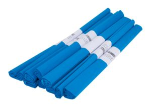 VBS Krepppapier, 50 x 200 cm, 10 Rollen Blau
