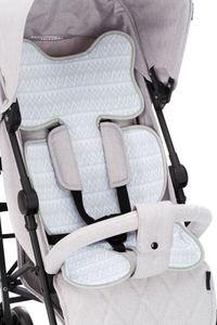 Fillikid TOP Atmungsaktive Universalauflage Sitzauflage Air, Design:grau zick-zack