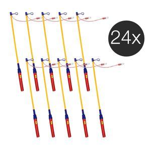24x elektrischer Laternenstab / Laterne für St.Martin