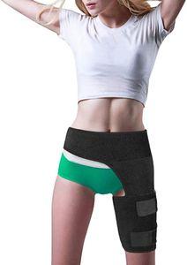 Oberschenkelbandage Kompression Hüftschenkelstütze - Stützbandage für die Leistengegend mit Klettverschluss für Oberschenkel und Ischiasnerven Schmerzlinderung, Einheitsgröße, Unisex, medizinische Qualität