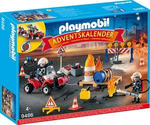 """Playmobil, Adventskalender """"Feuerwehreinsatz auf der Baustelle"""", 9486"""