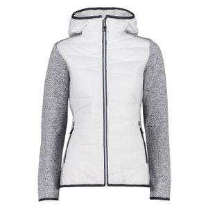 CMP Damen Hybridjacke Knittech Weiß / Grau 44