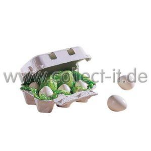 HABA 1368 - 6 Eier im Karton, Kaufmannsladen-Zubehör 4010168013688