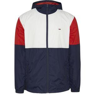 Tommy Jeans TJM Nylon Colorblock Windbreaker Herren white multi weiss / blau / rot L