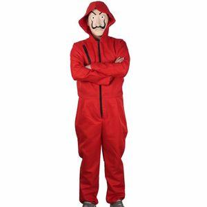 Unisex Bankräuber Kostüm Overall und Dali Maske, Größe:3XL