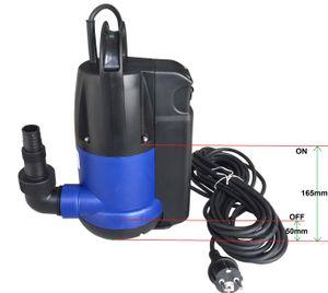 CHM GmbH Tauchpumpe Flachsaugpumpe mit integrierten Schwimmerschalter Poolpumpe