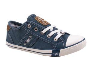 MUSTANG Damen Low Sneaker Blau Schuhe, Größe:39