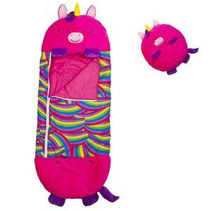 Süß Schlafsack Kinder Junge Mädchen Einhorn Swaddle Schlafsäcke Warm Wickeldecke Babyschlafsack Farbe : Rose Rot