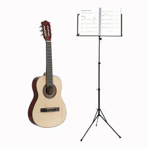 Voggenreiter Kindergitarren-Set, 2-tlg., Konzertgitarre 1/2, Volt Notenständer NS-100, Kinder Gitarre