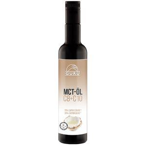 Guru MCT Öl - 500 ml in lichtgeschützter ultravioletter Flasche - 100% C8 & C10 Fettsäuren