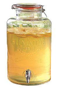 8L Glas Getränkespender Zapfhahn Dispenser Saftspender Wasser Cocktail Spender
