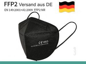 100 Stücke FFP2 Atemmaske Schutzmaske e Masken CE EN149 2001+A1:200 schwarz mit Doppel-S-Klemmhaken
