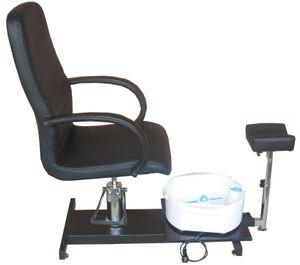 1137 Fußpflegestuhl schwarz mit Becken