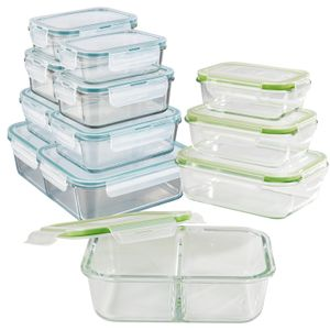 Frischhaltedosen Glas Set Klick-It Gefrierdosen Lunchbox Brotdose 12 Stück