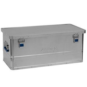 Alutec Transportkiste BASIC 80 - Aluminium Box 80 Liter mit Deckel verschließbar - 80 Liter