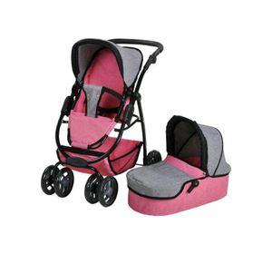 Kombi-Puppenwagen Coco, jeans pink