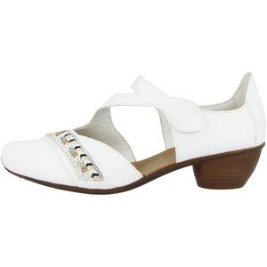 Rieker 43785 Schuhe Damen Spangenpumps gelenk offen, Größe:38 EU, Farbe:Weiß