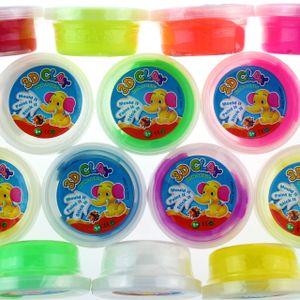 Hüpfknete Springknete in Dosen in 10-12 Farben - 12er Pack