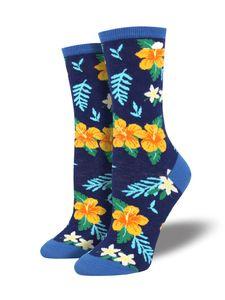 Socksmith – Aloha Floral – Hawaii Herren Socken blau Gr. 43 – 46