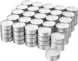 500 Stück Ikea Glimma Teelichter ohne Duft weiß