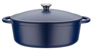GSW Gusseisen ovaler Bräter Blue Magic 33x26 cm / 6,4 Ltr., 717328, Gusseisenca. 6,4 L