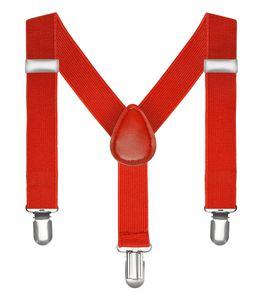 Kinderhosenträger Kinder Hosen Träger Stretch Y Form Style Clips Schmal Neon Bunt Farbig rot