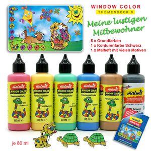 Window Color Mitbewohner Set 6 Fenstermalfarben Fensterfarben Malfarben Fensterbild