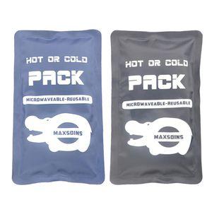 wasserdichtes gel-mikrowellengeeignetes kaltes pack für verletzungen blau+wasserfestes Gel Microwavable Freezable Hot Kaltpackung für Verletzungen schwarz