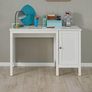 Kinder Schreibtisch mit Unterschrank Computertisch Ole Weiß Melamin 115 x 75 cm