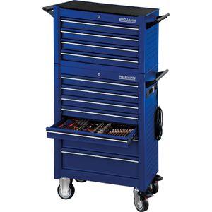 PROJAHN Werkstattwagen UNIVERSE, Blau, 415tlg Bestückung, mit Elektroverteiler, Werkstattwagenaufsatz, uvm.
