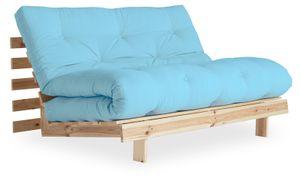 Karup Design ROOTS Futonsofa Gestell Unbehandelt, Matratze Light Blue