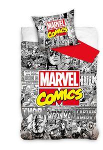 Marvel bettbezug Avengers 140 x 200 cm Baumwolle grau