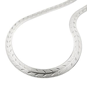 Kette 7mm Schlange flach gedrückt mit Diamantschliff Silber 925 45cm