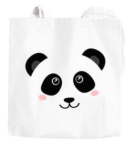 Jutebeutel Panda Gesicht Pandabär Tiergesichter Baumwolltasche Stoffbeutel Baumwolle Moonworks® weiß unisize