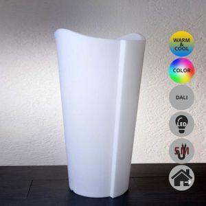 EPSTEIN-DESIGN TULPE AUßEN 100 cm 5M KABEL DIM LED Beleuchtetes Pflanzgefäß RGBW Dali Weiß