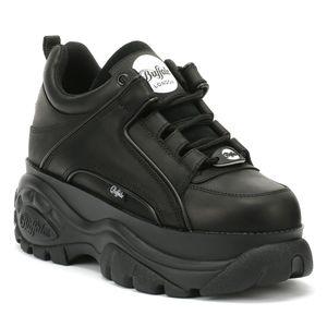 Buffalo Damen Sneaker Sneaker Low Leder schwarz 39