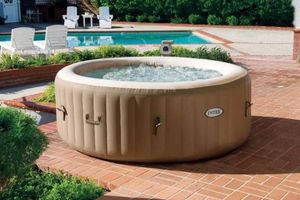 Intex PureSpa Bubble aufblasbarer Whirlpool ECO - Massage -  4 Personen - 795 Liter
