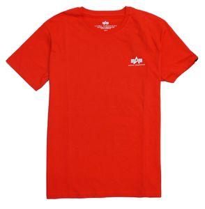 Alpha Industries Herren T-Shirt Basic Small Logo atomic red XL