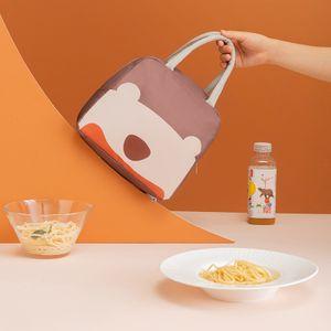 Waermedaemmbeutel Lunchbox Beutel Tragbarer Lunchbeutel Grosse tragbare Handtrage Niedlicher Cartoon-Lunchbag