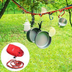 Camping im Freien Bunte lange Lanyard Wäscheleine Zelt Dekoration Lichter HFZ80814455