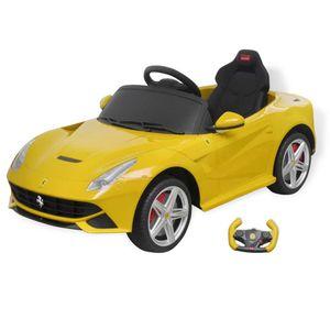 Kinderauto Elektroauto Kinder-Elektroauto Ferrari F12 Gelb 6 V mit Fernbedienung