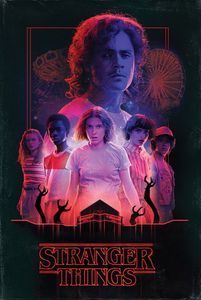Stranger Things - Horror - Poster Plakat Druck - Größe 61x91,5 cm