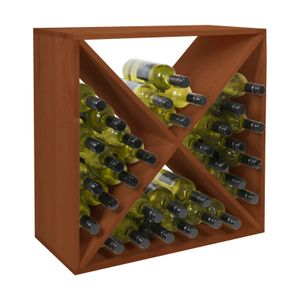 VINCASA: Holz-Weinregal 60 cm, Modul X-CUBE, braun