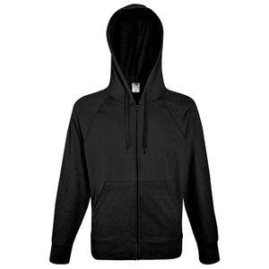 Fruit of the Loom Lightweight Hooded Sweat Jacket, Farbe:schwarz, Größe:L